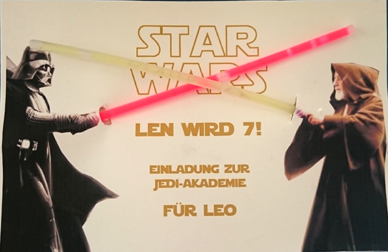 star wars party – mypaperset blog, Einladung